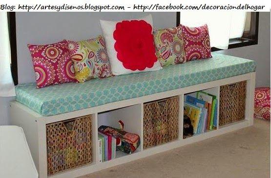 Muebles Funcionales para Espacios Pequeños by artesydisenos.blogspot.com