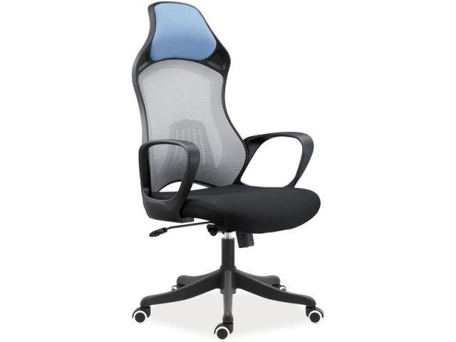 Fotele Q-218 Signal posiadają kołyskowy mechanizm TILT, dzięki któremu możliwa jest swobodna zmiana wysokości siedziska, blokada oparcia w pozycji do pracy, bujanie się oraz obrót o 360 stopni.