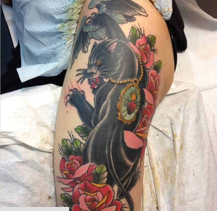 23 best tattoos panther tiger images on pinterest for Panther tiger tattoo