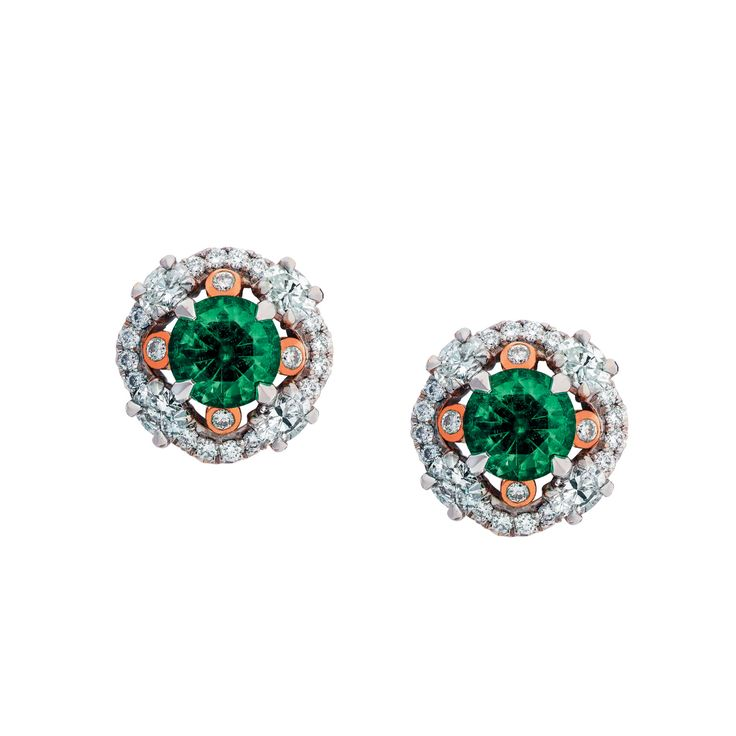 Fabergé Marie Emerald Earrings #Fabergé #diamond #emerald #earrings