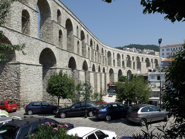 Roman Aqueduct in Kavala, Greece