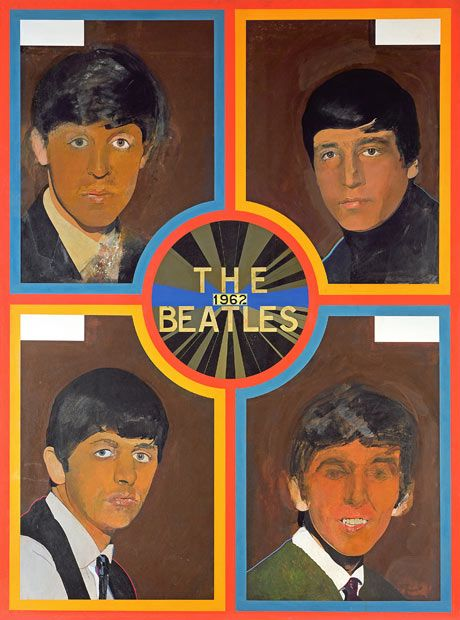 Beatles poster by Peter Blake. Photograph: Peter Blake