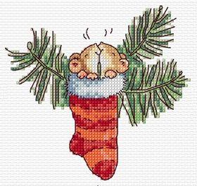 Margaret Sherry Cross Stitch Christmas Stocking SLKD18 – £3.50
