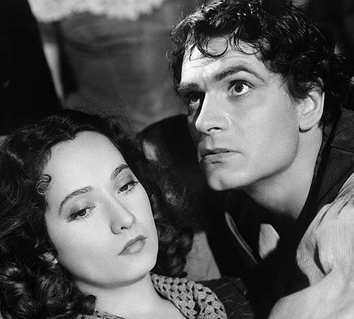 "Merle Oberon as Cathy and Laurence Olivier as Heathcliff in William Wyler's ""Wuthering Heights"" (1939)"