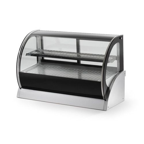 """Vollrath 48"""" Heated Display Cabinet 120V (40856) Vollrath's heated and refrigerated countertop display cabinets enhance the presentation of hot and cold food items. In addition, the rear sliding doors"""