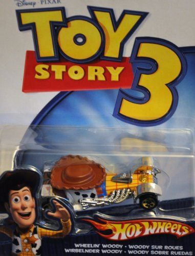 "Hot Wheels Disney Toy Story 3 Vehicle - Wheelin Woody by Mattel. $7.98. Inspired by the Disney/Pixar Animated Film, ""Toy Story 3"". This is the Hot Wheels® Toy Story 3 Die-Cast Car Assortment Inspired by Disney & Pixar. Suitable for Ages 3 & Older."