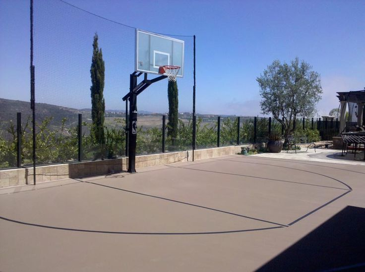 11 best outdoor basketball court images on pinterest for Built in basketball court