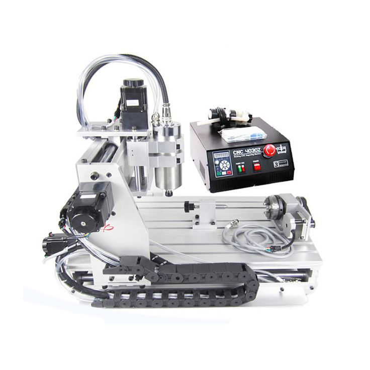 CNC 3040Z-S 4 Axis wood milling machine with 800W VFD water cooled spindle for 3D printer work