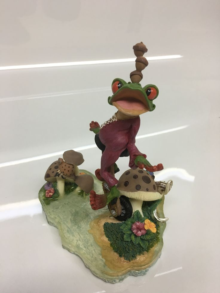Frogs on a Unicycle Decoration