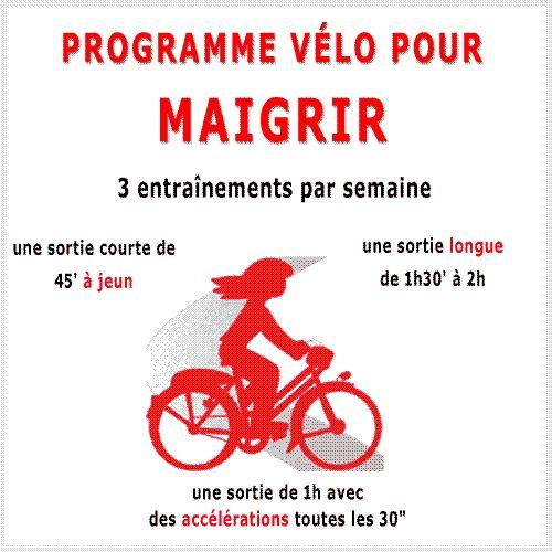 Vous pouvez rapidement maigrir en suivant un de mos 5 programmes gratuits sur vélo d'apparement ou en extérieur