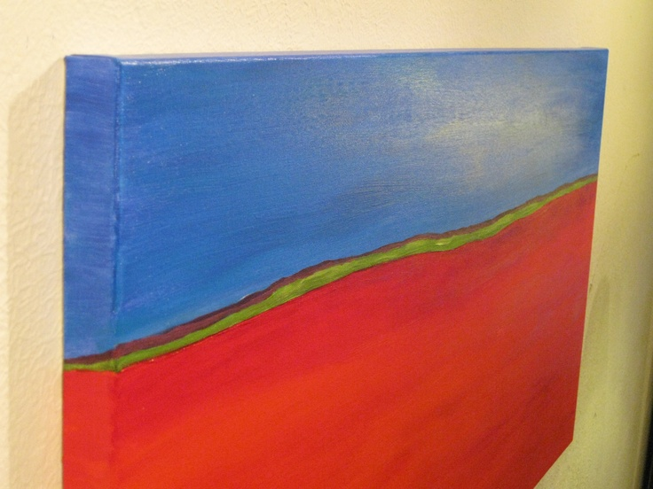 Red-Blue Horizon - side view