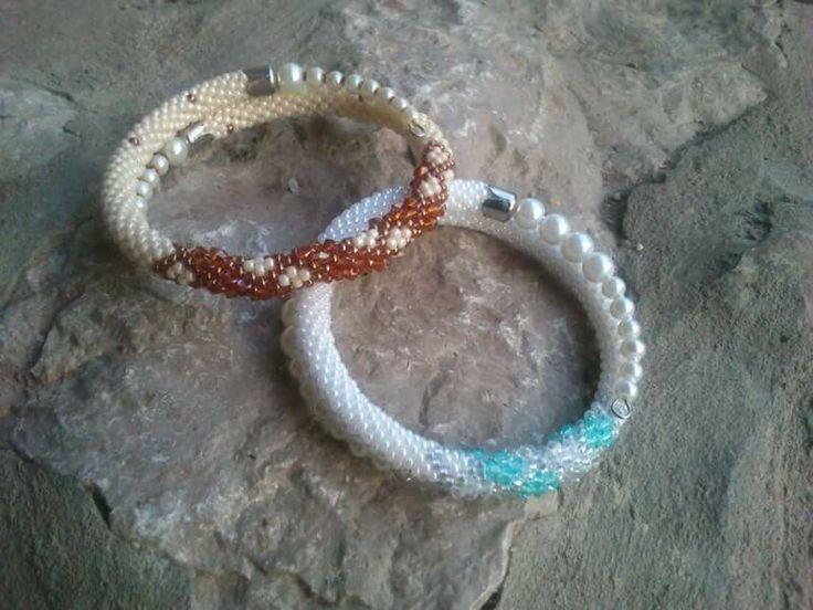 Beaded crochet with swarovski