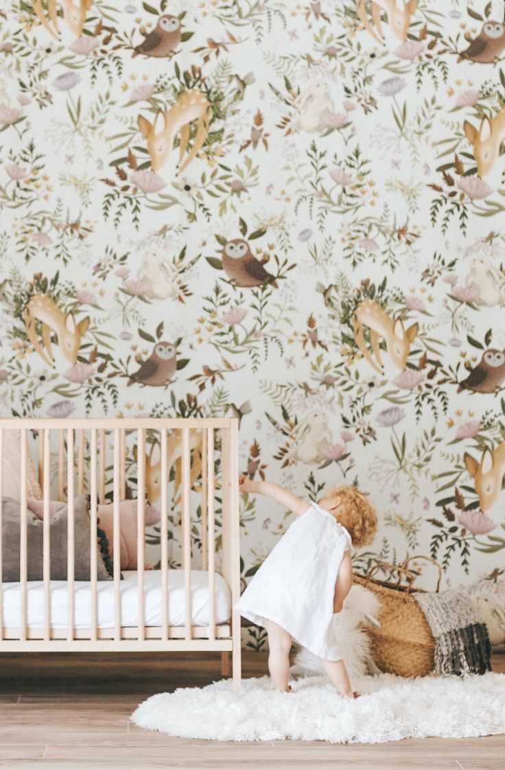 Woodland Animals Wallpaper Mural   anewalldecor on Etsy #nurserydecor