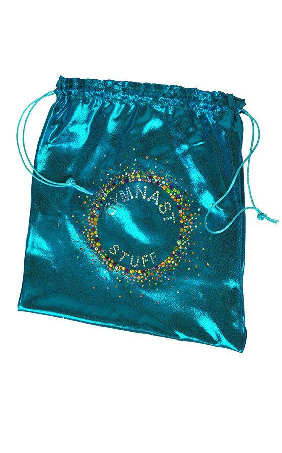 "Blue Sparkle ""Gymnast Stuff"" Gymnastics Grip Bag"