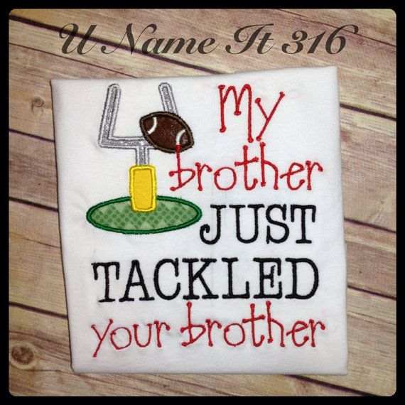 Football Sister Shirt by Unameit316 on Etsy, $18.00 - Olivia would love to wear this!
