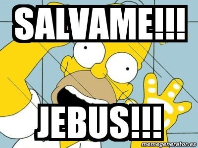 Sálvame Jebus! Los simpsons, Homero Simpson