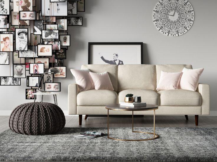 US Pride Furniture Velvet Modern Mid-Century Obadiah Sofa ...