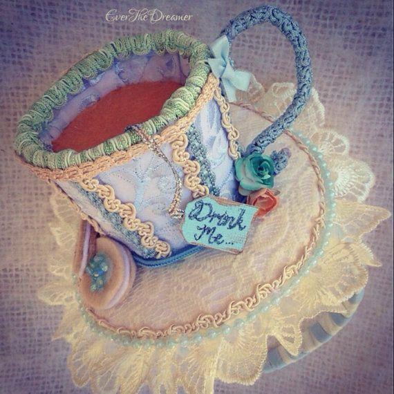 Alice teacup facinator headband hat handmade by EverTheDream