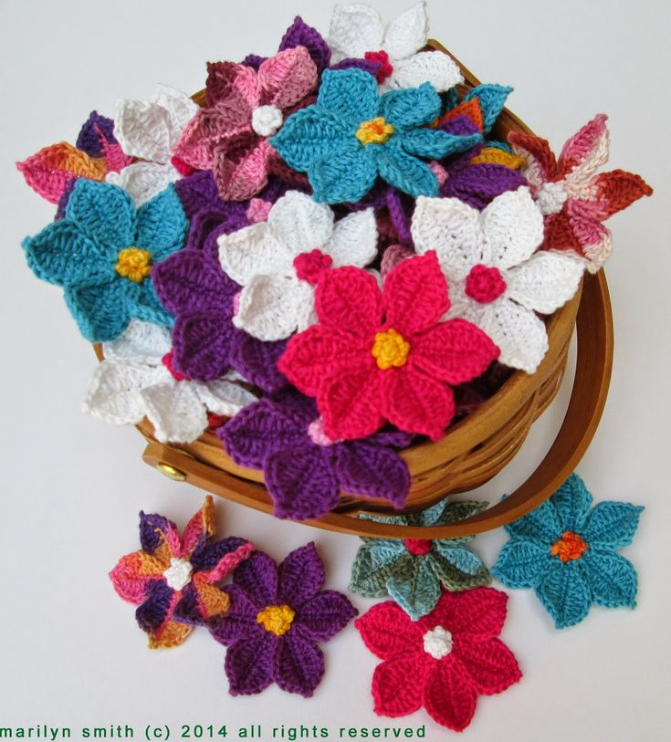 Flowers In The Wild Motif By Marilyn Smith - Free Crochet Pattern - (evanescencecrochet.blogspot)