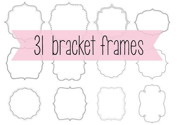 31 bracket frame borders with detail. Instant by PureSweetJoy
