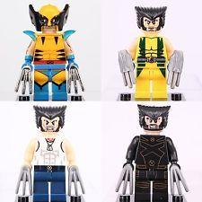 4pcs set X-MEN Marvel Wolverine super hero minifigures Fit with Lego