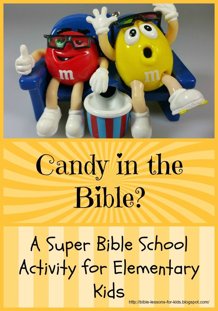 Bible Lessons for Kids: Candy in the Bible? A Super Bible School Activity for Elementary Kids