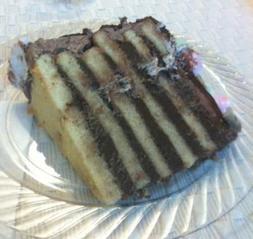"Traditional 8 Layer Doberge Cake. ""This came to me second hand, but I'm told it is the original recipe from ""Let's Bake with Beulah Ledner"", compiled by the daughter of the ""Doberge Queen of New Orleans"" after her death."""