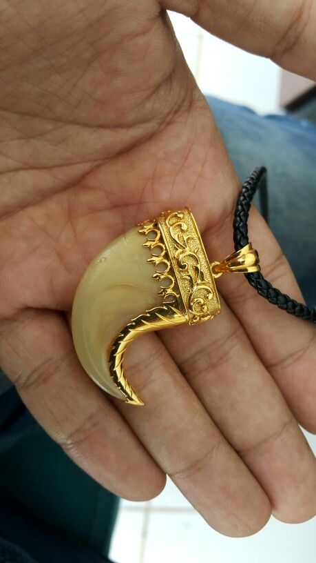 Tiger Claw Gold Pendant