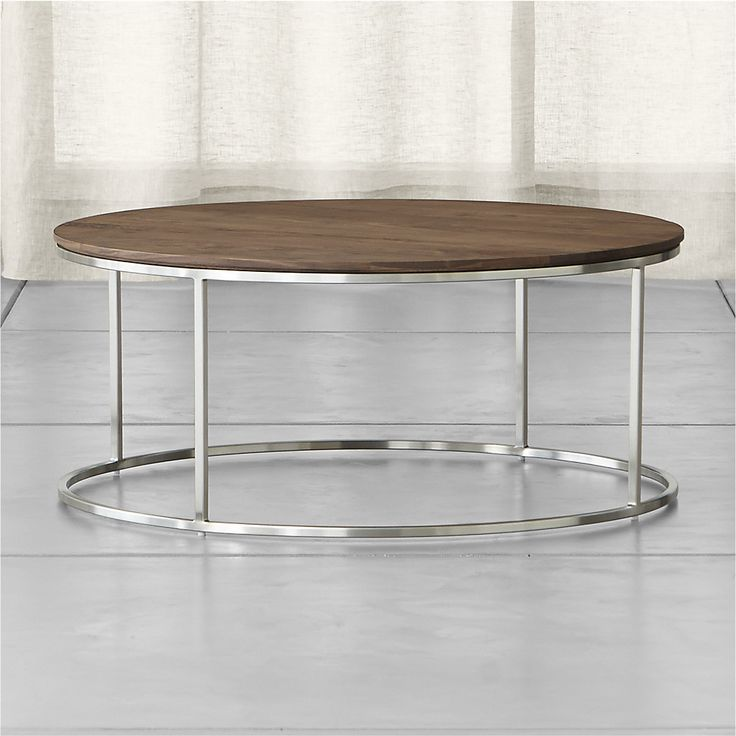 Frame Round Coffee Table Crate And Barrel Living Room Furniture Pinterest Crates