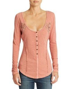 Free People Henley Longsleeve Sweater - Boho vintage style and things we love at The Aurora Company - www.theauroraco.com
