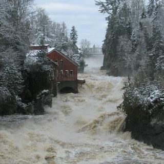 December 2010 flood Gorge at St. George NB