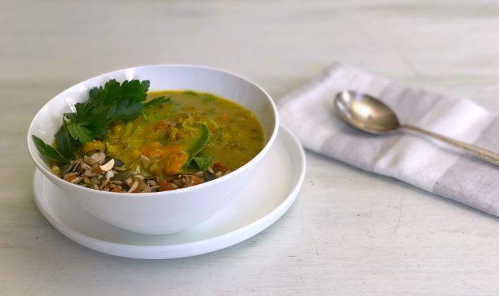 Mung Bean + Amaranth Kitchari w/ Spinach