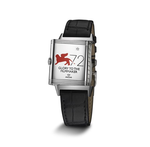 Glory to the Filmmaker special edition Grande Reverso Night & Day in stainless steel.