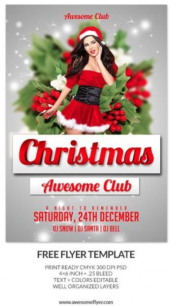 15 best Awesome Flyer Collections images on Pinterest Psd flyer - free printable christmas flyers templates