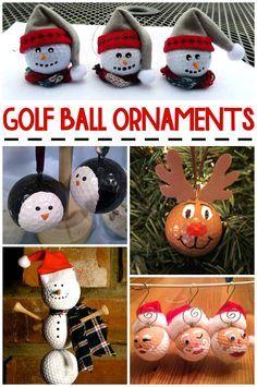 Christmas Golf Ball Ornament Ideas - Crafty Morning