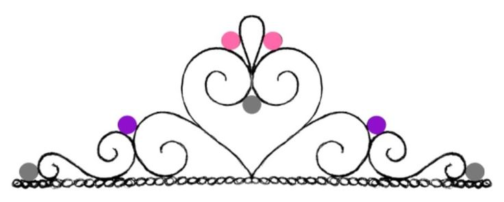 Tiara (Crown) Cupcake Template