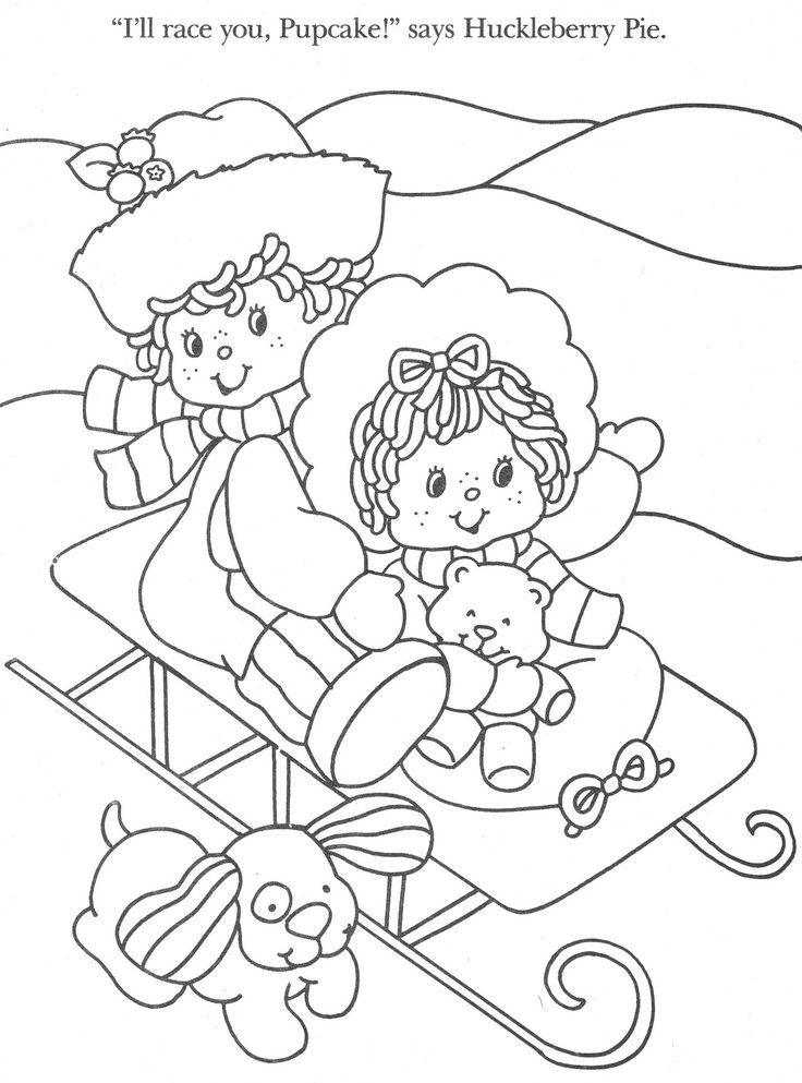 christmas strawberry shortcake coloring pages-#13