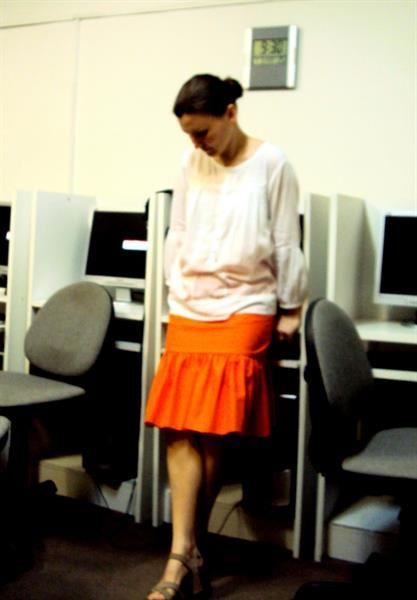 Оранжевая юбка ojji