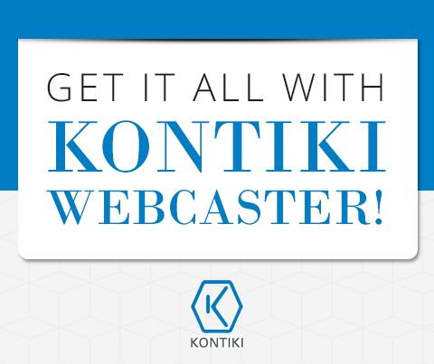 Kontiki Webcaster is part of the Kontiki Enterprise Video Platform - an end-to-end video solution that includes purpose-built apps, flawless delivery and enterprise-grade control and all in a comprehensive, cloud-based platform. Find out what our platform can do for you: http://www.kontiki.com/platform/