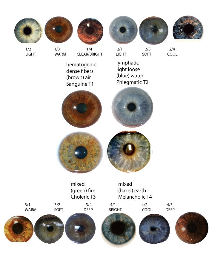 (This chart is old and somewhat inaccurate). EYES Choleric ...