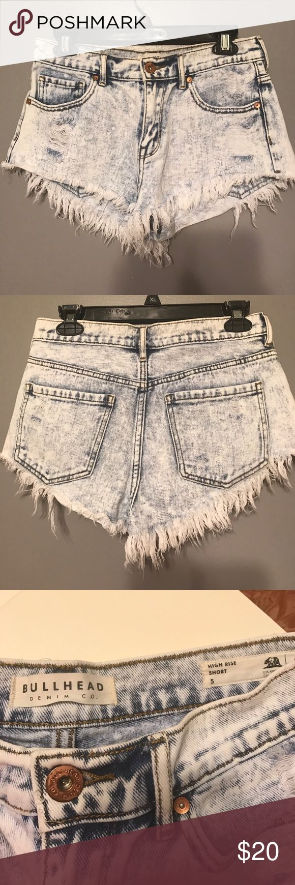 Acid wash shorts Acid wash shorts purchased from PacSun. High rise fit. These look killer but sadly I am unable to fit in them anymore. Bullhead Shorts