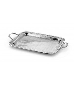 Be the first to review this product Pewter rectangular tray w/handles cm 29,5x39  Handcrafted in Italy