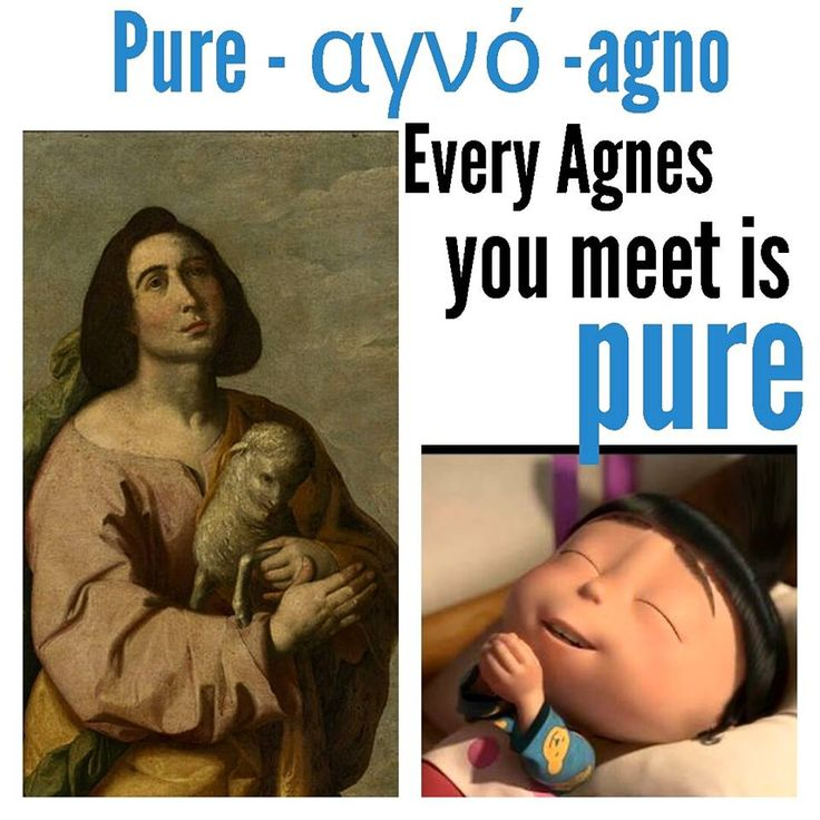Every AGNES you meet is PURE - Greek Mnemonic Greek language Greek word Greece Go to The Greek Chain Facebook group to learn 10 words a day right here, https://www.facebook.com/groups/thegreekchain