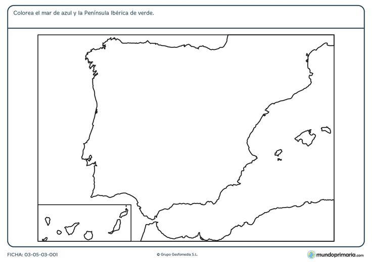 Ficha-de-la-Península-Ibérica-para-primaria.jpg 1.754×1.240 píxeles