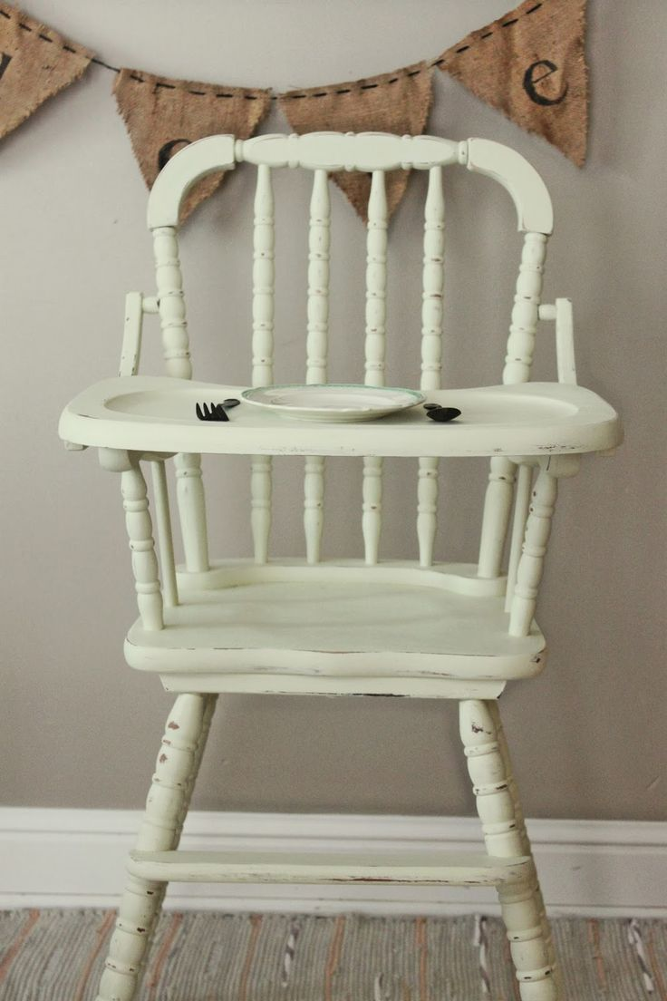 Painted wooden high chair - Namely Original Vintage Painted High Chairs