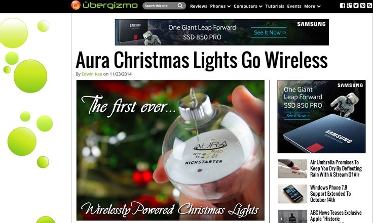 Poweredbyaura Featured By Top Tech Site Ubergizmo Com