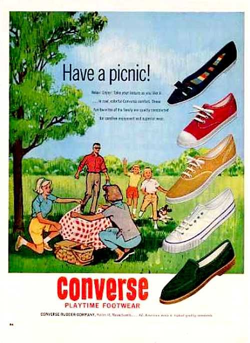 Have a Picnic! Converse footwear advertisement, 1962.