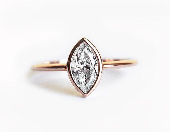 0.5 Carat Diamond Ring Solitaire Diamond Ring Diamond by MinimalVS