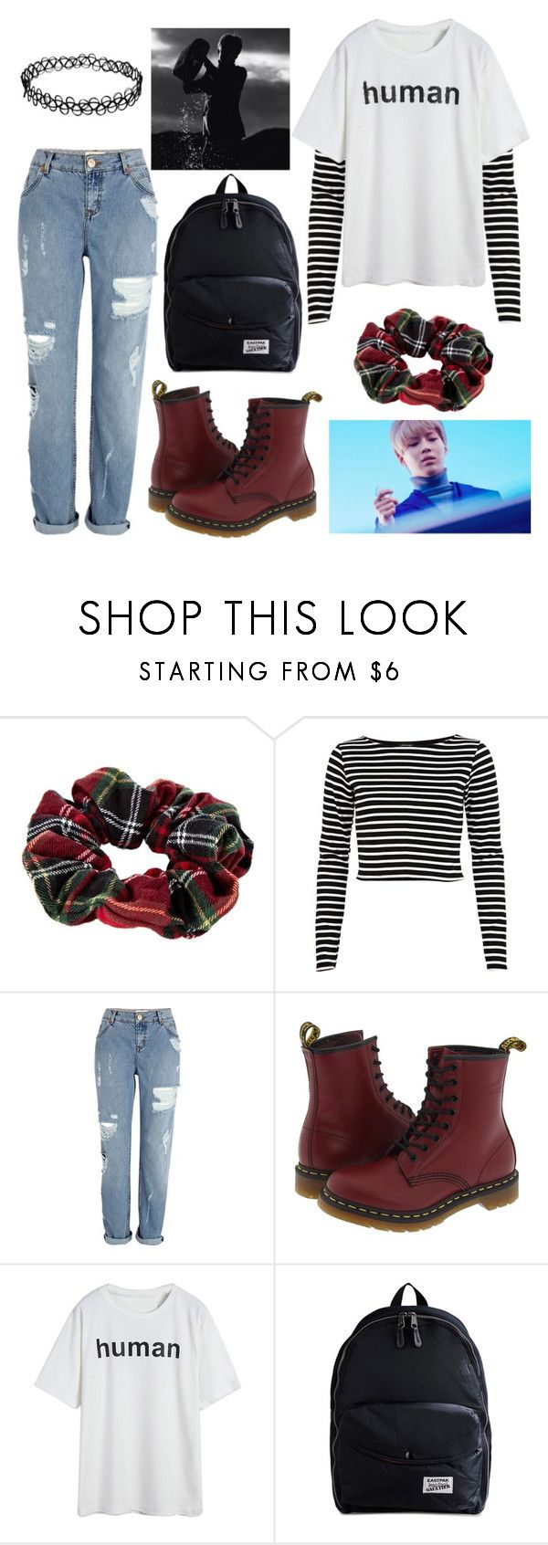 """""""Press Your Number Taemin Press It"""" by shamamamia ❤ liked on Polyvore featuring River Island, Dr. Martens and Eastpak"""