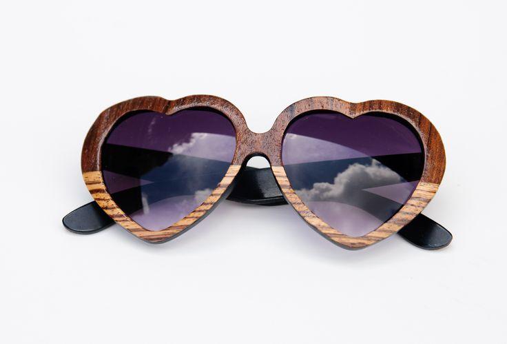 Tumbleweeds Handcraft Wood Veneer Lolita Sunglasses, $85.